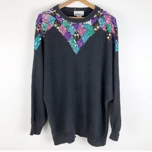 Vintage pullover sequin sweater